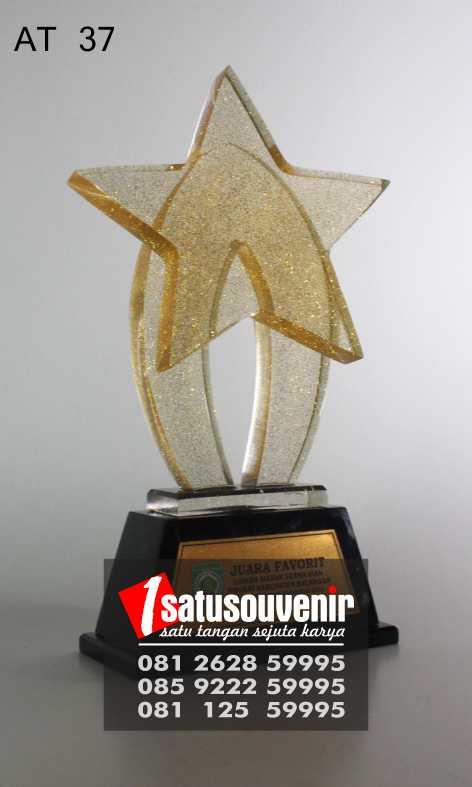 Trophy Penghargaan | Plakat Juara Favorit | Plakat Resin Bintang