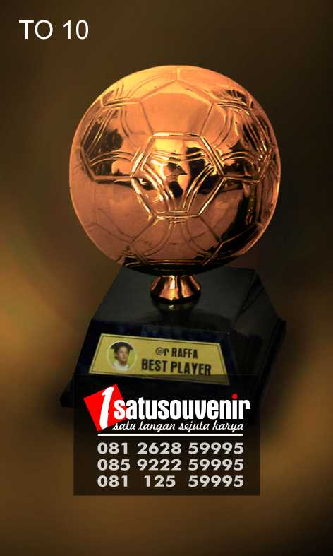 piala plakat trophy best performance unik