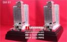 Souvenir Miniatur Gedung Apartemen Eksklusif