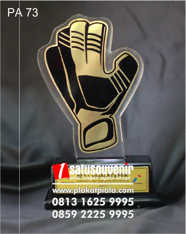 plakat akrilik unik best goalkeeper