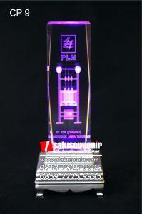 Plakat Kristal 3D Trafo PLN Crystal Eksklusif dan Elegan