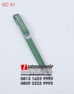 Corporate Gift Pen Hijau Plastik