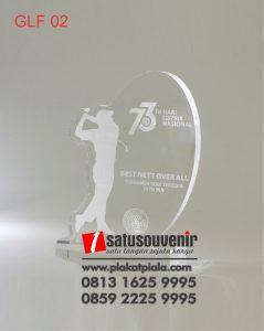 Trophy Golf Akrilik Turnamen Golf 73 Tahun Listrik Nasional