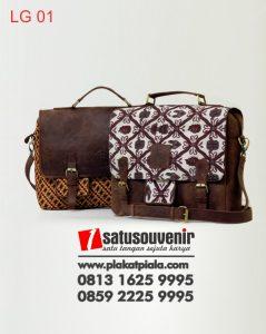 Leather Gift Tas Laptop Kulit Batik